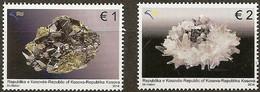 KOSOVO 2014 Set 2 V MNH CRYSTALS  MINERALS CRYSTAL  MINERAL - Minerales