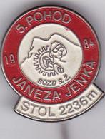 SLOVENIA -  PIN  -  SOZD S. Z.   --  5. POHOD JANEZA JENKA 1984. -   CLIMBING SOCIETY, MOUNTAINEERING, ALPINISM - Alpinisme, Beklimming