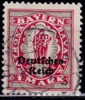 Germany - Bavaria 1920, 1m, Overprint, Sc#266, Used - Bayern