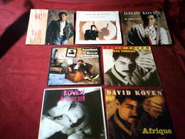DAVID  KOVEN  °° COLLECTION   8 / 45  TOURS  DIFFERENTS - Collezioni