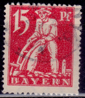 Germany - Bayern 1920, Plowman, 15pf, Sc#240, Used - Bayern