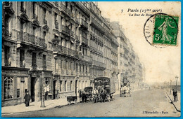 CPA 75017 Paris - Rue De Rome (voir Attelages) - Arrondissement: 17