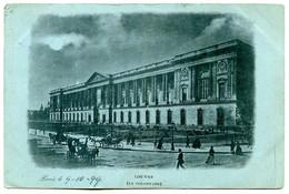 75001 PARIS - Louvre (La Colonnade) - Postée En 1899 Vers L'Italie - Teinte Bleu-vert Dans La Masse - District 01