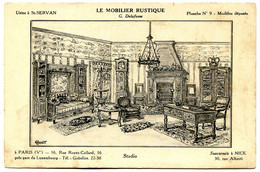 75005 PARIS - Publicité Pour Le Mobilier Rustique, Rue Royer-Collard - Dessin Ravaut - District 05