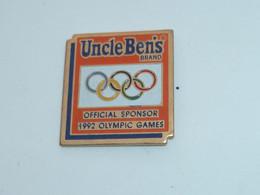 Pin's RIZ ONCLE BEN'S, SPONSOR J.O. 1992 - Olympic Games