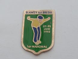 Pin's NATIONAL DE PETANQUE A BLANGY SUR BRESLES - Bocce