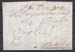 """L. Datée 2 Février 1710 De CADIZ (Cadix Espagne) Pour AMBEREZ (Anvers Belgique) - Marque Man. De Passage """"de Bordeaux"""" & - 1621-1713 (Spanische Niederlande)"""