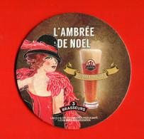 Sous Bock Coaster Biere Beer  La Réunion L'ambrée De Noël Brasserie  Les Trois Brasseurs - Sotto-boccale