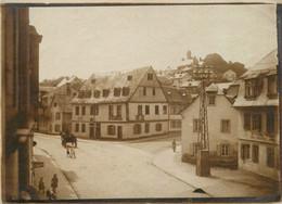 Allemagne LANGENSCHWALBACH 1917  Adolfstr Photo Sépia 12 X 9 Cm - Plaatsen