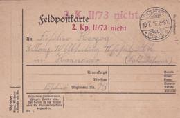 Entier 10.07.1916 Feldpostkarte Colmar ( ELS) - Postwaardestukken