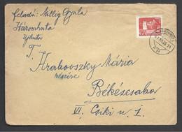 Hungary ,Cover, Háromhuta F P.-FiokPosta(Rural Post), 1961. - Hungary