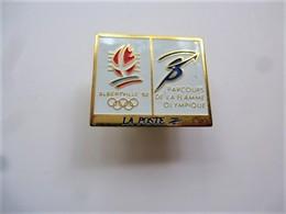 PINS JEUX OLYMPIQUES ALBERTVILLE 92 LA POSTE PARCOURS DE LA FLAMME OLYMPIQUE / 33NAT - Olympic Games