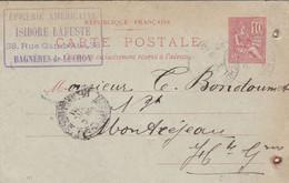 BAGNERES DE LUCHON ISIDORE LAFUSTE EPICERIE AMERICAINE MERCERIE BOULANGERIE GRAINS FARINE CARTE LETTRE ANNEE 1901 - Frankreich