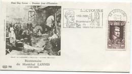 Mal LANNES (Yvert N° 1593): Oblitération 1er Jour Par Flamme SECAP  10/5/1969 - Lectoure - Sin Clasificación