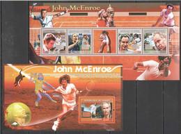 NS377 2009 GUINEE GUINEA JOHN MCENROE SPORT TENNIS LEGEND BL+KB MNH - Tenis