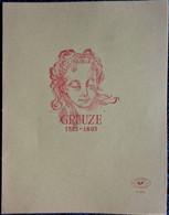 Cahier  - GREUZE - 1725 / 1805 . - Transport