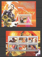 NS438 2007 GUINEE GUINEA MUSIC LEGENDS GRAMMY JOHN LENNON WHITNEY HOUSTON 1KB+1BL MN - Music