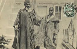 Tanger Renegado Catolico Y Criado Del Kadi T Beau Timbre 5c Surchargé 5 Beau Cachet Tanger Recto Verso - Tanger