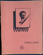 Cahier De DESSIN - HOMO - 16 Pages Rose . - Transport