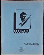 Cahier De DESSIN - HOMO - 16 Pages Bleu . - Transport