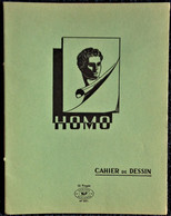 Cahier De DESSIN - HOMO - 16 Pages Vert . - Transport