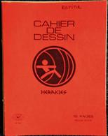 Cahier De DESSIN - Héraklès - 16 Pages Rouge . - Transport