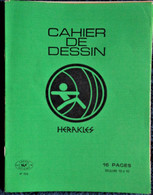 Cahier De DESSIN - Héraklès - 16 Pages Vert . - Transport