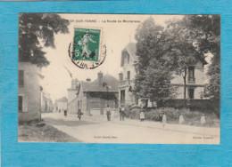 Misy-sur-Yonne, 1908 ( Seine-et-Marne ). - La Route De Montereau. - Altri Comuni