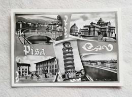 Cartolina Illustrata Pisa - Vedute Diverse, Viaggiata Per Bologna 1956 - Pisa