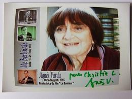 Réalisatrice : Agnès VARDA - Dédicace - Signé - Autographe Authentique - Andere