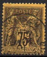 FRANCE ( TYPE SAGE ) : SPINK/MAURY 2019 , N°  99  N/U  TIMBRE  BIEN  OBLITERE , A  SAISIR . LOS - 1876-1898 Sage (Tipo II)