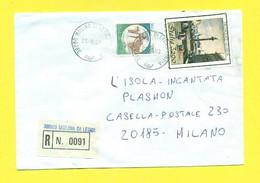 STORIA POSTALE ITALIA - 1991-00 -RACCOMANDATE-REGISTERED COVER-RACCOMANDATA - 6. 1946-.. Republik