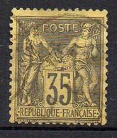 FRANCE ( TYPE SAGE ) : SPINK/MAURY 2019 , N°  93  N/U  TIMBRE  BIEN  OBLITERE , A  SAISIR . LOS - 1876-1898 Sage (Tipo II)
