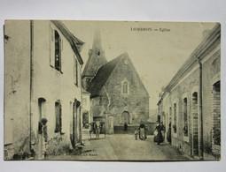 Lombron - Eglise (belle Animation) + Cachet OR Au Dos 2 Scans - Non Classificati