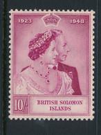 SOLOMON ISLANDS, 1949 Silver Wedding 10 Shilling MNH - Salomonen (...-1978)
