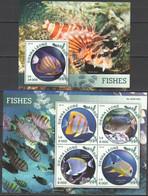 ST431 2016 SIERRA LEONE FAUNA MARINE LIFE FISHES 1KB+1BL MNH - Vita Acquatica
