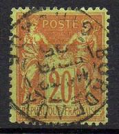 FRANCE ( TYPE SAGE ) : SPINK/MAURY 2019 , N°  96  N/U  TIMBRE  BIEN  OBLITERE , A  SAISIR . LOS - 1876-1898 Sage (Tipo II)