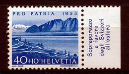 HELVETIA - Mi. 584 - Pro Patria - MNH** - Bogenrand/Bord De Feuille/Tab - (ref. TAB-3) - Pro Patria