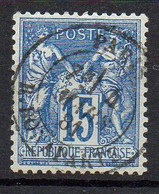 FRANCE ( TYPE SAGE ) : SPINK/MAURY 2019 , N°  90  N/U  TIMBRE  BIEN  OBLITERE , A  SAISIR . LOS - 1876-1898 Sage (Tipo II)