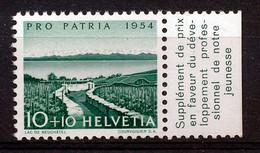 HELVETIA - Mi. 598 - Pro Patria - MNH** - Bogenrand/Bord De Feuille/Tab - (ref. TAB-5) - Pro Patria