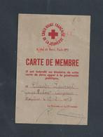 MILITARIA CARTE DE MEMBRE DE LA JEUNESSE FRANÇAISE CROIX ROIGE TIMBRES DE CLAUDE LAURENT GROUPE LECLER CARIGNAN MÉZIERES - Cartes