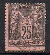 FRANCE ( TYPE SAGE ) : SPINK/MAURY 2019 , N°  97  N/U  TIMBRE  BIEN  OBLITERE , A  SAISIR . LOS - 1876-1898 Sage (Tipo II)