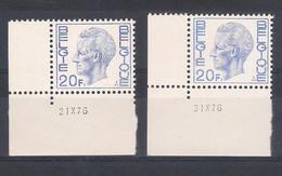N° 1587 P4 Avec CD 21.X.76 + N° 1587 P5a Avec CD 31.X76. - 1970-1980 Elström