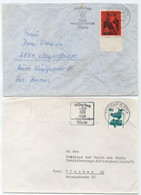 BIERE - BEER - BIER / 1967  & 1974 ALLEMAGNE - MUNCHEN - 2 OBLITERATIONS ILLUSTREES SUR LETTRE (ref 7830) - Bières