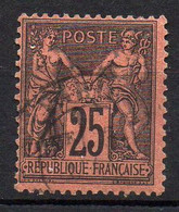 FRANCE ( TYPE SAGE ) : SPINK/MAURY 2019 , N°  91  N/U  TIMBRE  BIEN  OBLITERE , A  SAISIR . LOS - 1876-1898 Sage (Tipo II)
