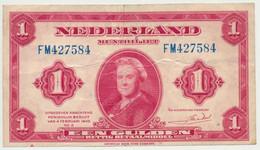 Nederland 1 Gulden 1943 Wilhelmina - [2] 1815-… : Koninkrijk Der Verenigde Nederlanden
