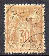 FRANCE ( TYPE SAGE ) : SPINK/MAURY 2019 , N°  80  N/U  TIMBRE  BIEN  OBLITERE , A  SAISIR . LOS - 1876-1898 Sage (Tipo II)