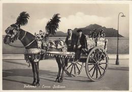 PALERMO-CARRO SICILIANO-CARTOLINA VERA FOTOGRAFIA VIAGGIATA IL 18-3-1956 - Palermo