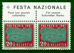 HELVETIA - Mi. 733 - Pro Patria - MNH** - Bogenrand/Bord De Feuille/Tab - (ref. TAB-20) - Pro Patria