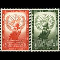 UN-NEW YORK 1954 - Scott# 29-30 Human Rights Set Of 2 LH - Ungebraucht
